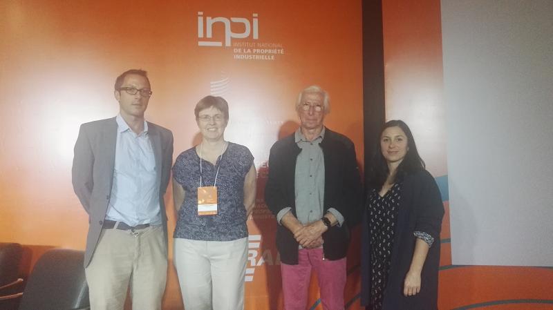 Crédit image INPI/ Antoine Ginestet, responsable IG/INPI, Catherine Oggero/INAO, Charles Perraud/Sel de Guérande et Amandine Montredon, conseillère INPI en Amérique latine