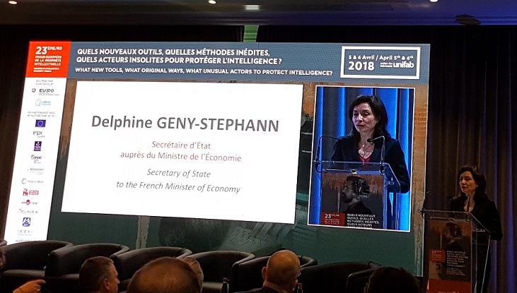 Crédit image INPI / Delphine Geny-Stephann, Secrétaire d'État auprès du ministre de l'Économie et des Finances