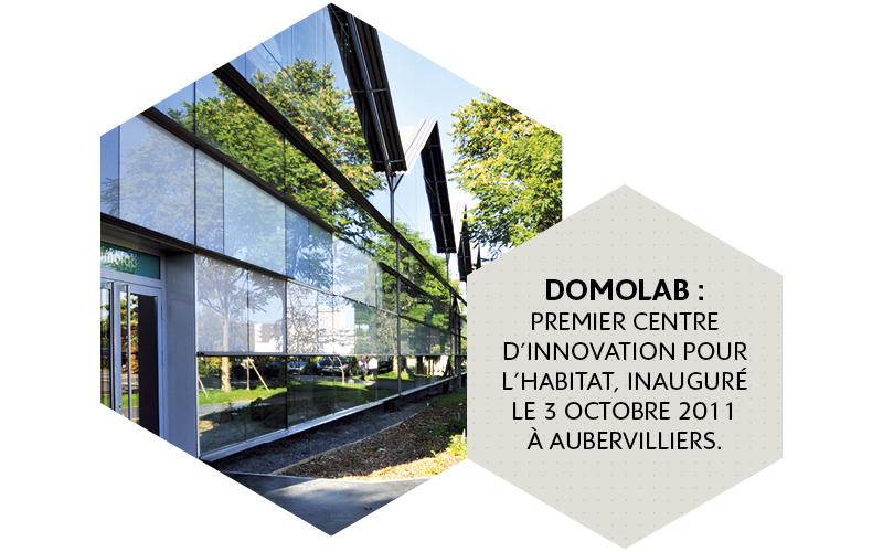 Domolab : premier centre d'innovation pour l'habitat, inauguré le 3 octobre 2011 à Aubervilliers. Crédits : Encore Heureux architectes / Photo : Thierry Mercier.