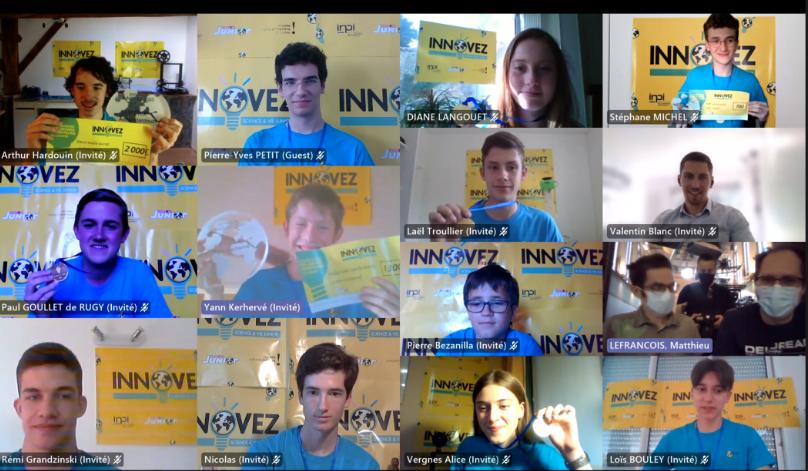 Les 12 lauréats du concours 2021 Innovez - Science et Vie Junior