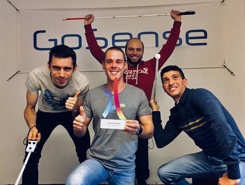 Crédit image GoSense / Equipe récompensée aux Trophées Smart Paris 2024