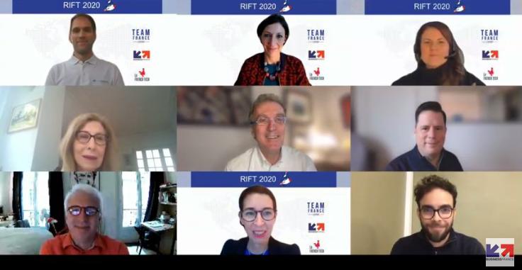Les lauréats et les remettants des Trophées de l'international du numérique 2020 remis le 3 décembre 2020 [crédit photo] capture d'écran INPI / Business France