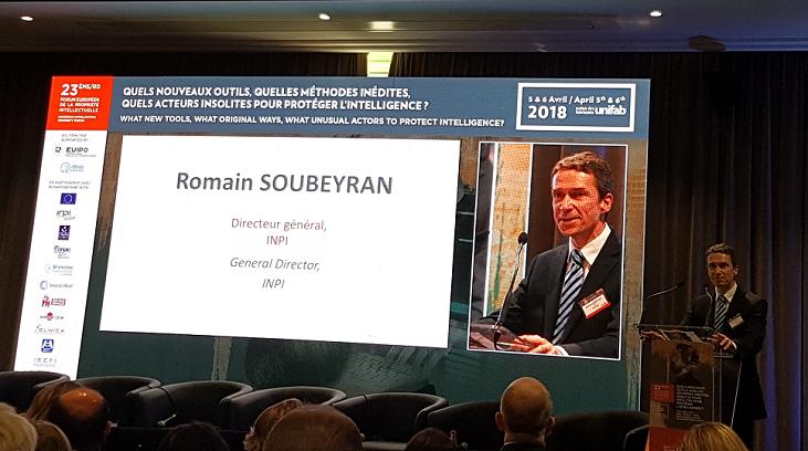 Crédit image INPI / Romain Soubeyran, directeur général de l'INPI