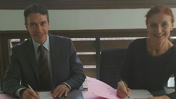 Romain Soubeyran, Directeur général de l'INPI, et Marie Guittard, Directrice de l'INAO