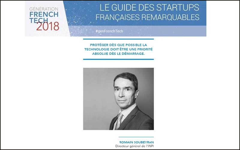 Crédit image SNCF / bannière issue du guide « Génération French Tech, les  1 000 qui font l'économie de demain » et portrait de Romain Soubeyran