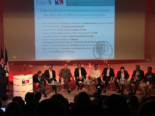 Crédit image INPI : table ronde sur l'ambition internationale des PME innovantes françaises en présence de Vincent Carré (3è personne à gauche)